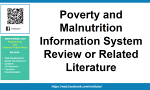 Poverty and Malnutrition Information System Review or Related Literature