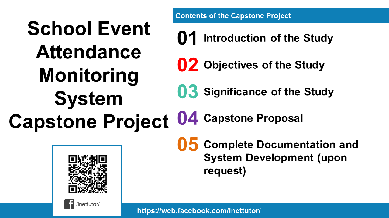School Event Attendance Monitoring System Capstone Project