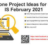 Capstone Project Ideas for IT and IS February 2021
