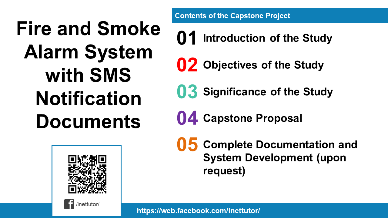Fire and Smoke Alarm System with SMS Notification Documents