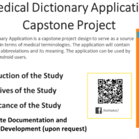 Medical Dictionary Application Capstone Project