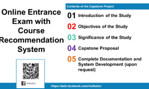 Online Entrance Exam with Course Recommendation System