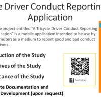 A Tricycle Driver Conduct Reporting Mobile Application
