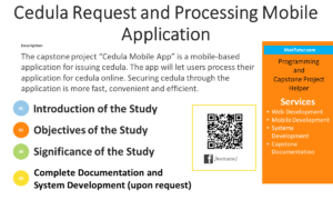 Cedula Request and Processing Mobile Application