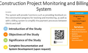 Construction Project Monitoring and Billing System