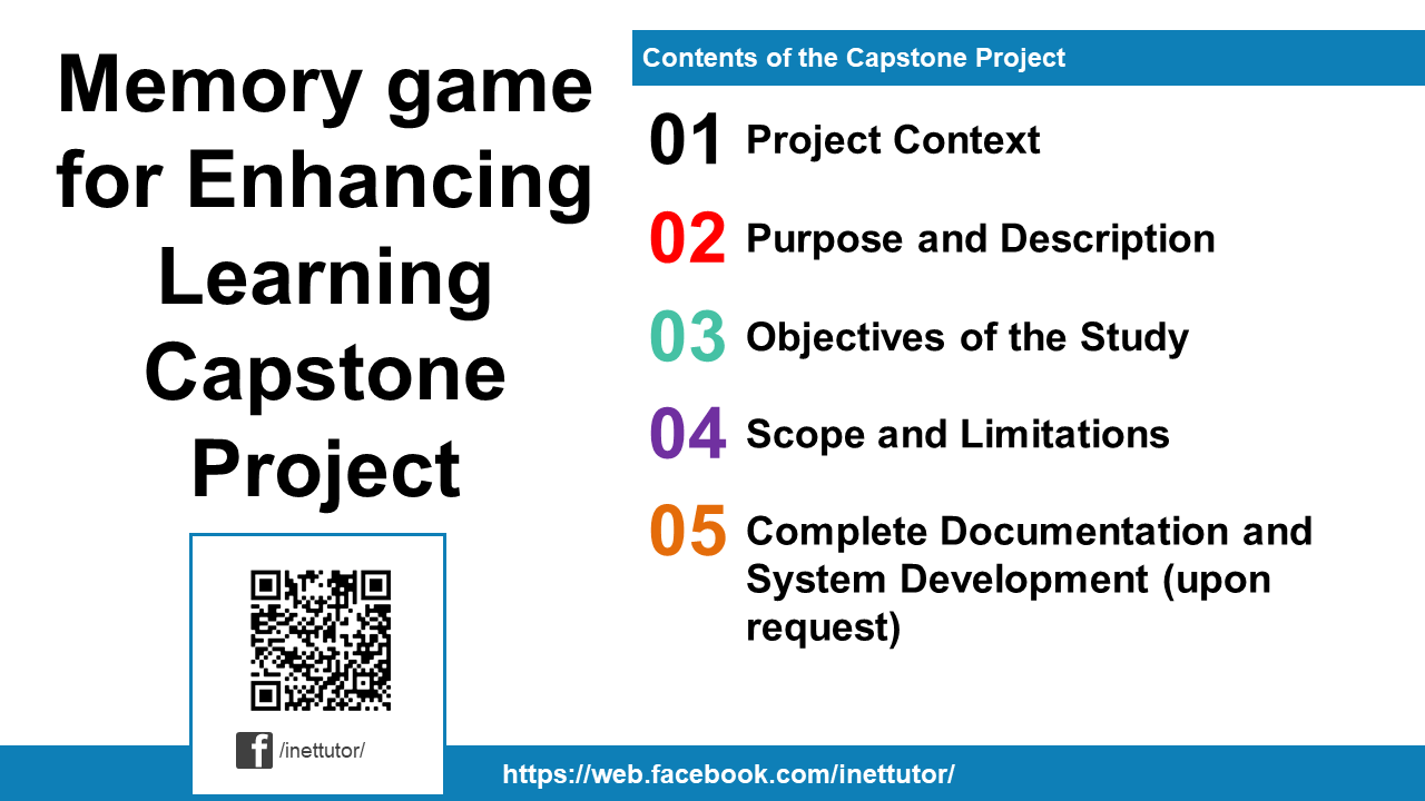 Memory game for Enhancing Learning Capstone Project