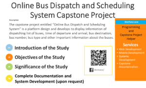 Online Bus Dispatch and Scheduling System Capstone Project