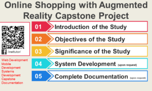 Online Shopping with Augmented Reality Capstone Project