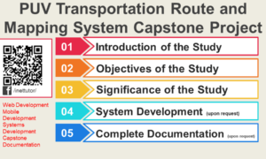 PUV Transportation Route and Mapping System Capstone Project
