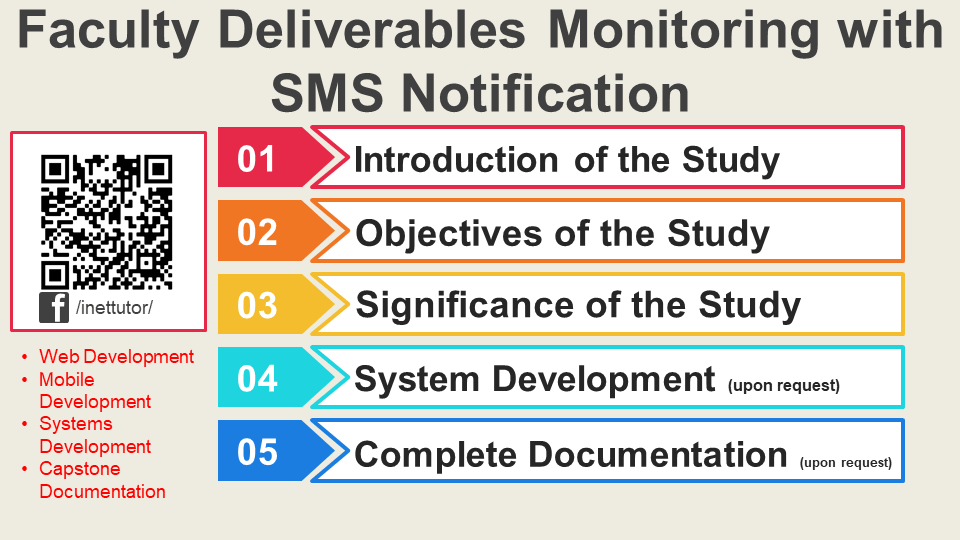 Faculty Deliverables Monitoring with SMS Notification