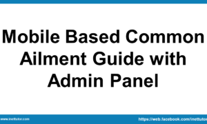 Mobile Based Common Ailment Guide with Admin Panel