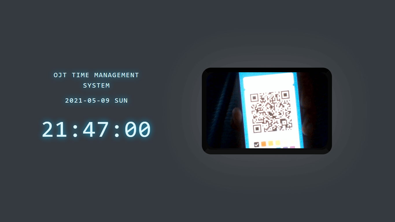OJT Timesheet Monitoring System using QR Code - Scanning Page