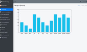 Tailor Booking Management System Free Download Template - Income Report
