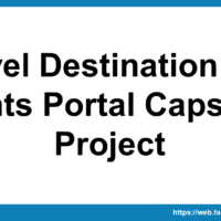 Travel Destination and Events Portal Capstone Project
