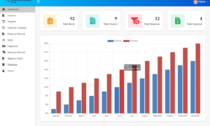 Accounting Management System Free Template - Dashboard