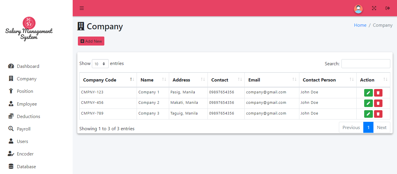 Online and SMS Based Salary Notification - Manage Company