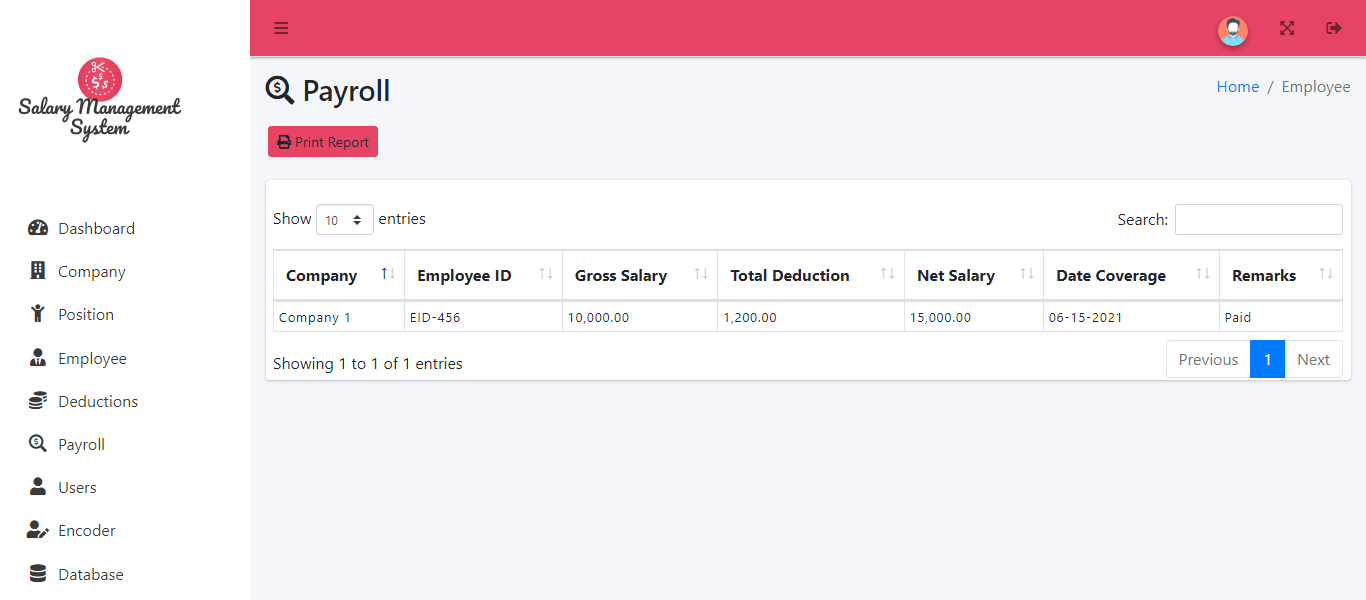 Online and SMS Based Salary Notification - Payroll Information
