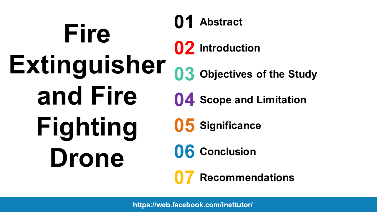 Fire Extinguisher and Fire Fighting Drone