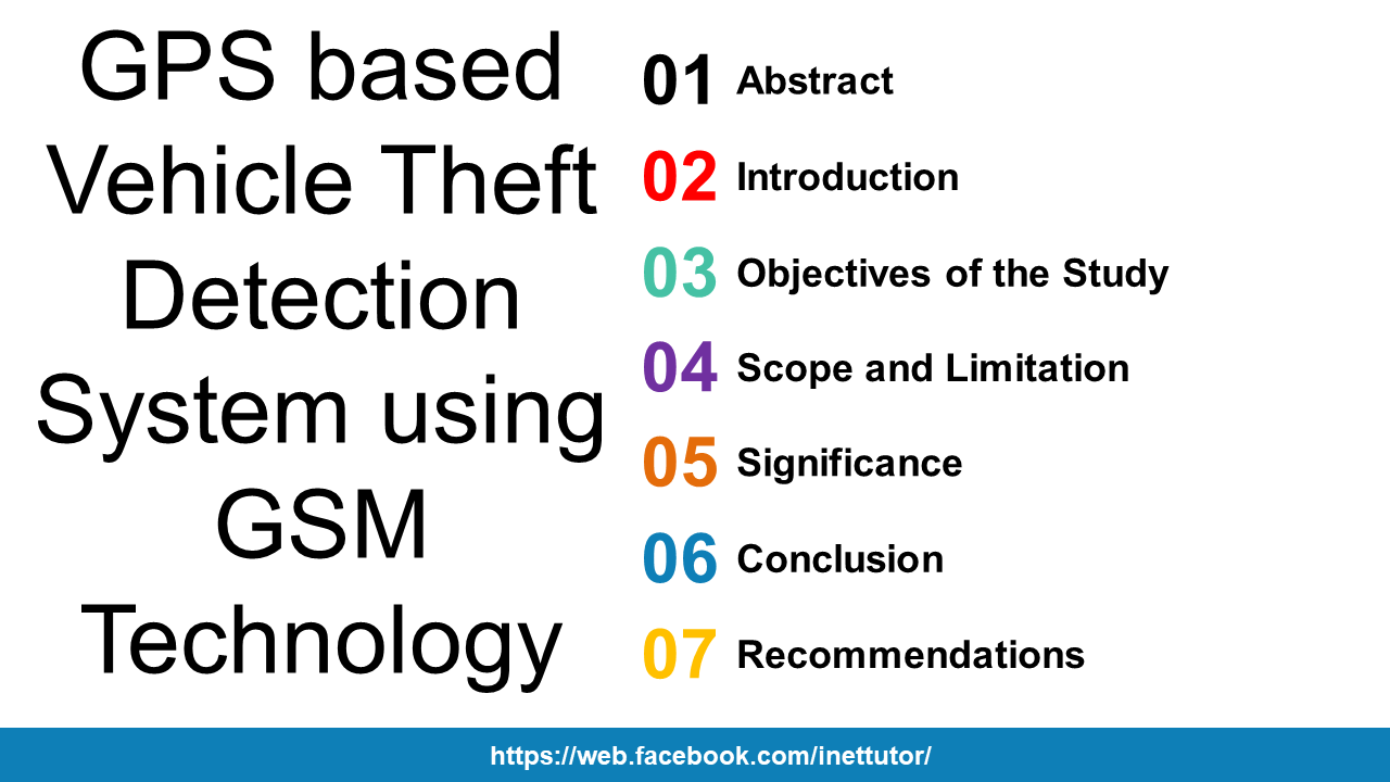 GPS based Vehicle Theft Detection System using GSM Technology