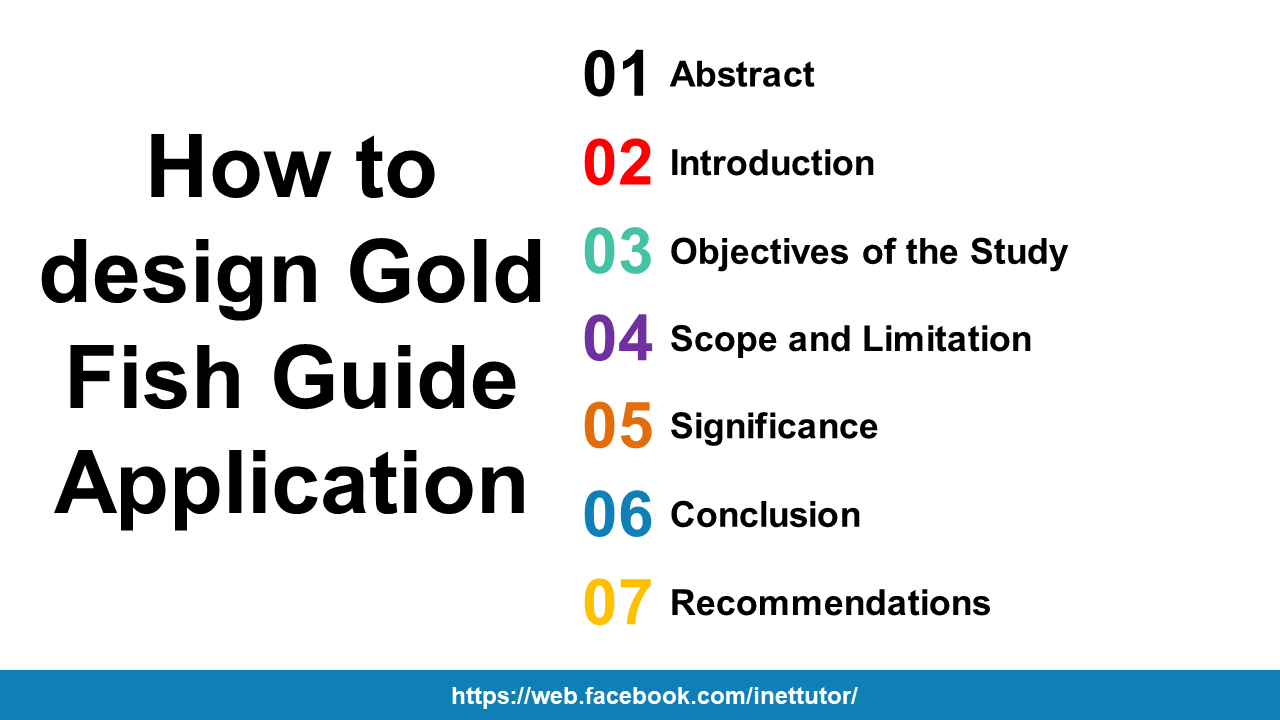 How to design Gold Fish Guide Application