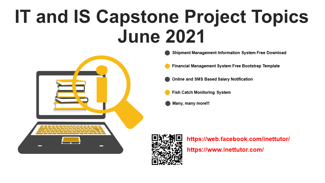 IT and IS Capstone Project Topics June 2021