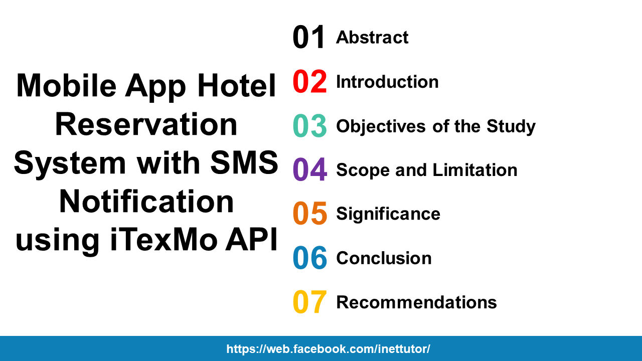 Mobile App Hotel Reservation System with SMS Notification using iTexMo API