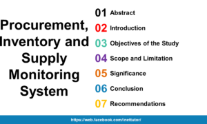Procurement, Inventory and Supply Monitoring System