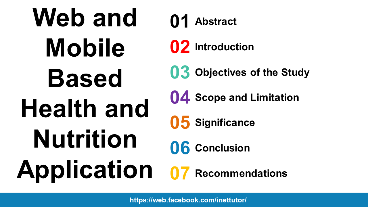 Web and Mobile Based Health and Nutrition Application