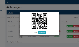 QR Code Fare Payment System - Passenger Profile with QR Code