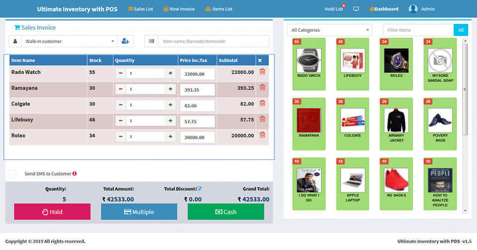 Web-based POS System - Payment Method