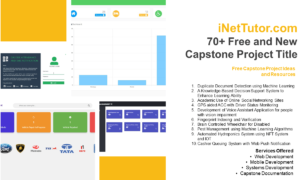 70+ Free and New Capstone Project Title