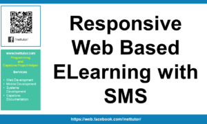 Responsive Web Based ELearning with SMS