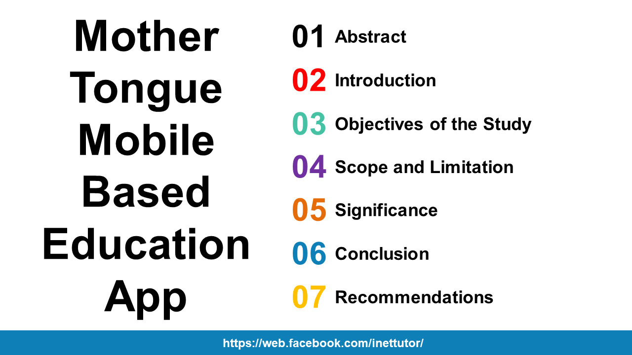 Mother Tongue Mobile Based Education App