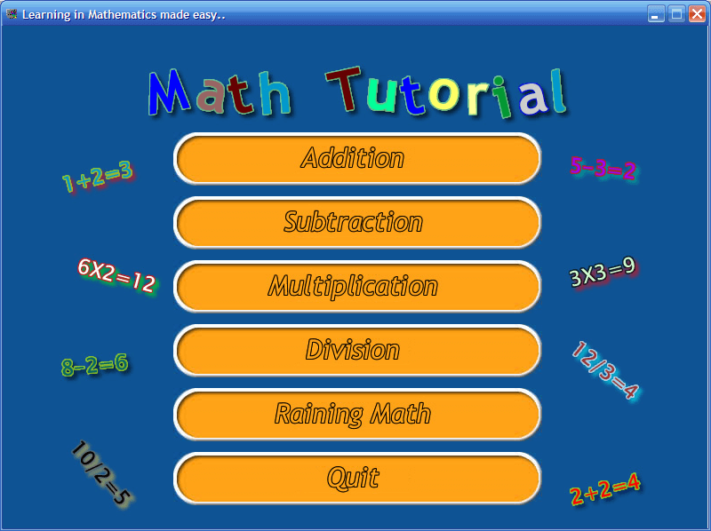 Interactive Math Game in Visual Basic