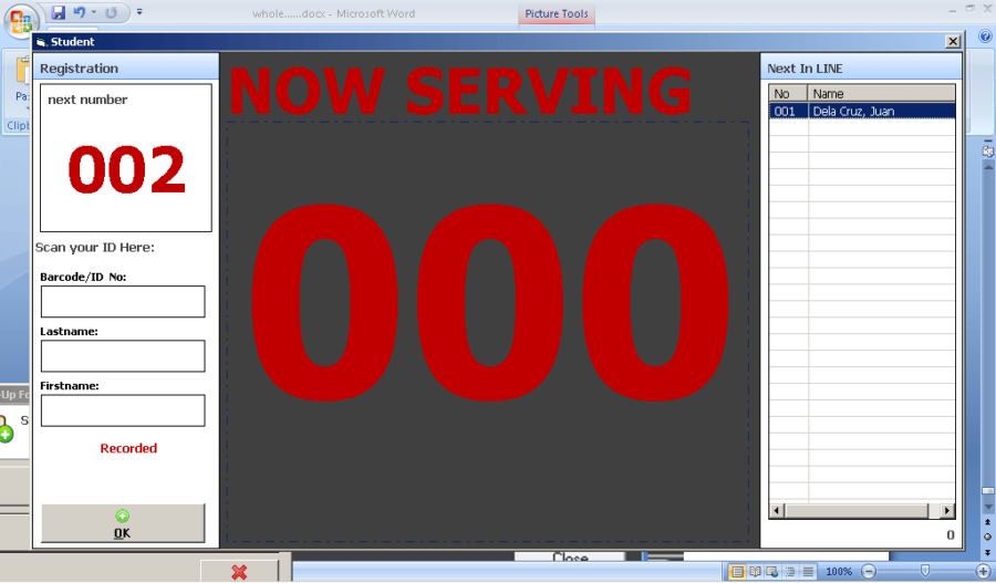 Teller's Queuing System Using Barcode Technology Free Download